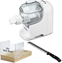 Cuisinart PM-1 Pastafecto Pasta and Bread Dough Maker with Bread Slicer and Stainless Steel Bread Knife Bundle (3 Items)