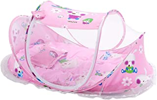 Babys Cute Princess Soft Comforty Crib Bedding Baby Lounger Bed Canopies Drapes Crib Netting Mosquito Net Curtains Dome Nursery Bedding Yarn Play Tent for Boys Girls Toddlers (Pink)