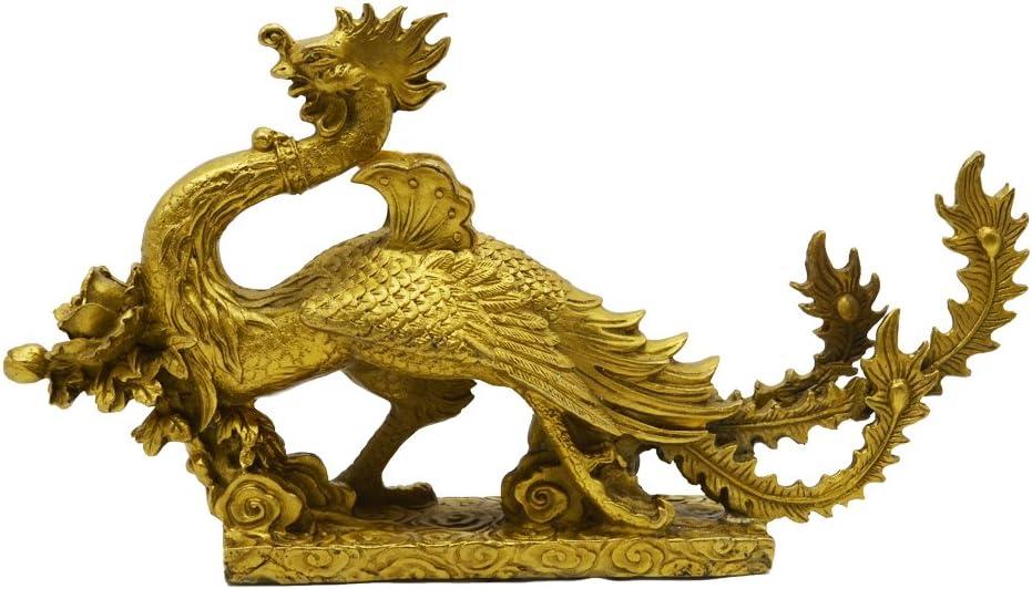 New color Handmade Brass Phoenix Statue Auspiciousness Home Represents Excellence Dec
