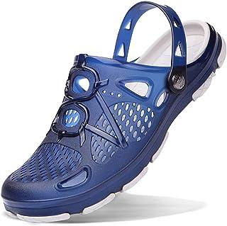 Men's Garden Clogs Anti-Slip Beach Shower Sandals Slip on Massage Outdoor Walking Summer Slippers for Men