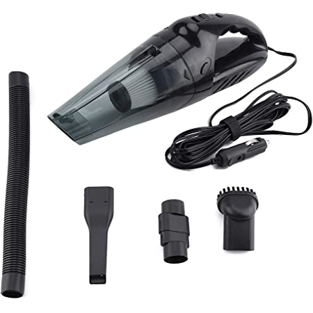 iFCOW Handheld Car Vacuum Cleaner 12V 120W Portable Car Vacuum Cleaner Wet Dry Dust Dirt Handheld Remover Mini Car Vacuum Cleaner (Black)