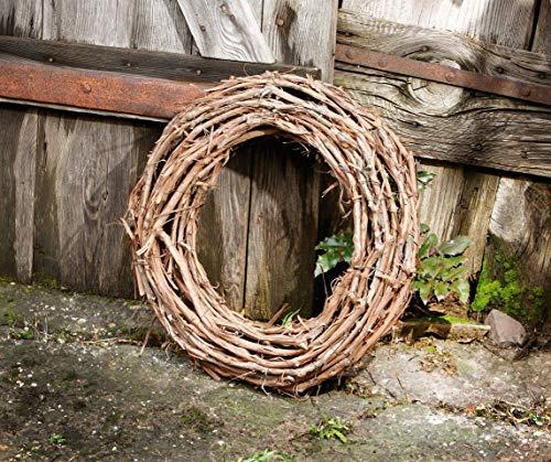 Kranz Rustikal aus Rattan Ø 50 cm, Natur Wand Tisch Tür Deko Holz Weiden Reben