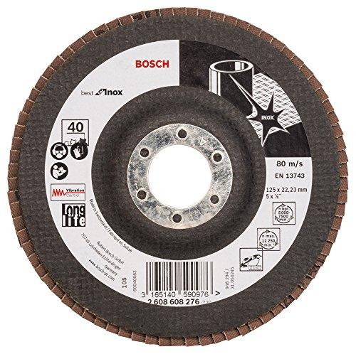 Bosch professionele slijpschijf X581 Best for Inox 125 mm korrel 40, 1 st.