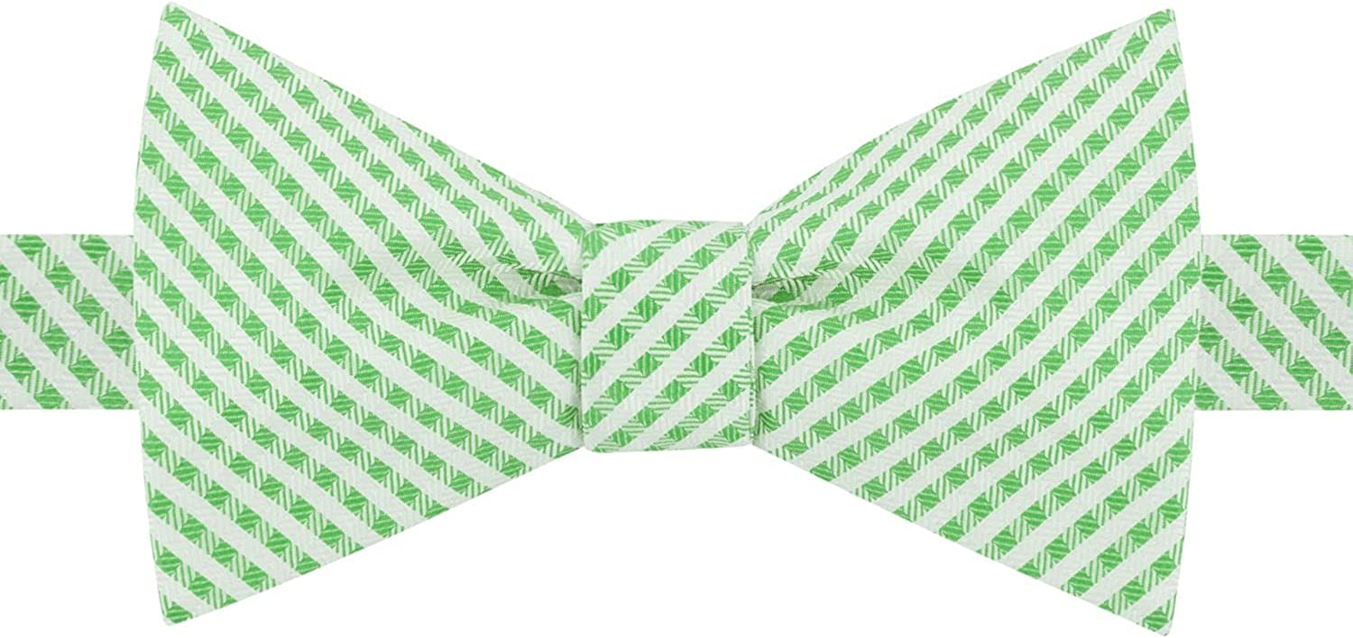 TOMMY HILFIGER Mens Green Gingham Bow Tie