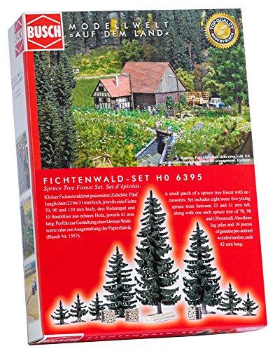 Busch-6395 Spruce Tree Forest Set Ho Scenery Modèle à échelle réduite, 6395