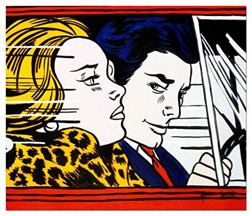 elOleo Homage to Roy Lichtenstein - In the car 50x60 Gemälde auf Leinwand handgemalt 91057A