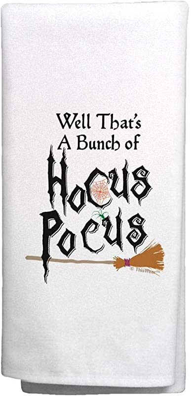 Halloween Party Decorations That S A Bunch Of Hocus Pocus Witch Gifts 6 Pack Kitchen Towels White