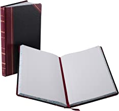 Boorum & Pease 9300R Record/Account Book, Black/Red Cover, 300 Pages, 14 1/8 x 8 5/8