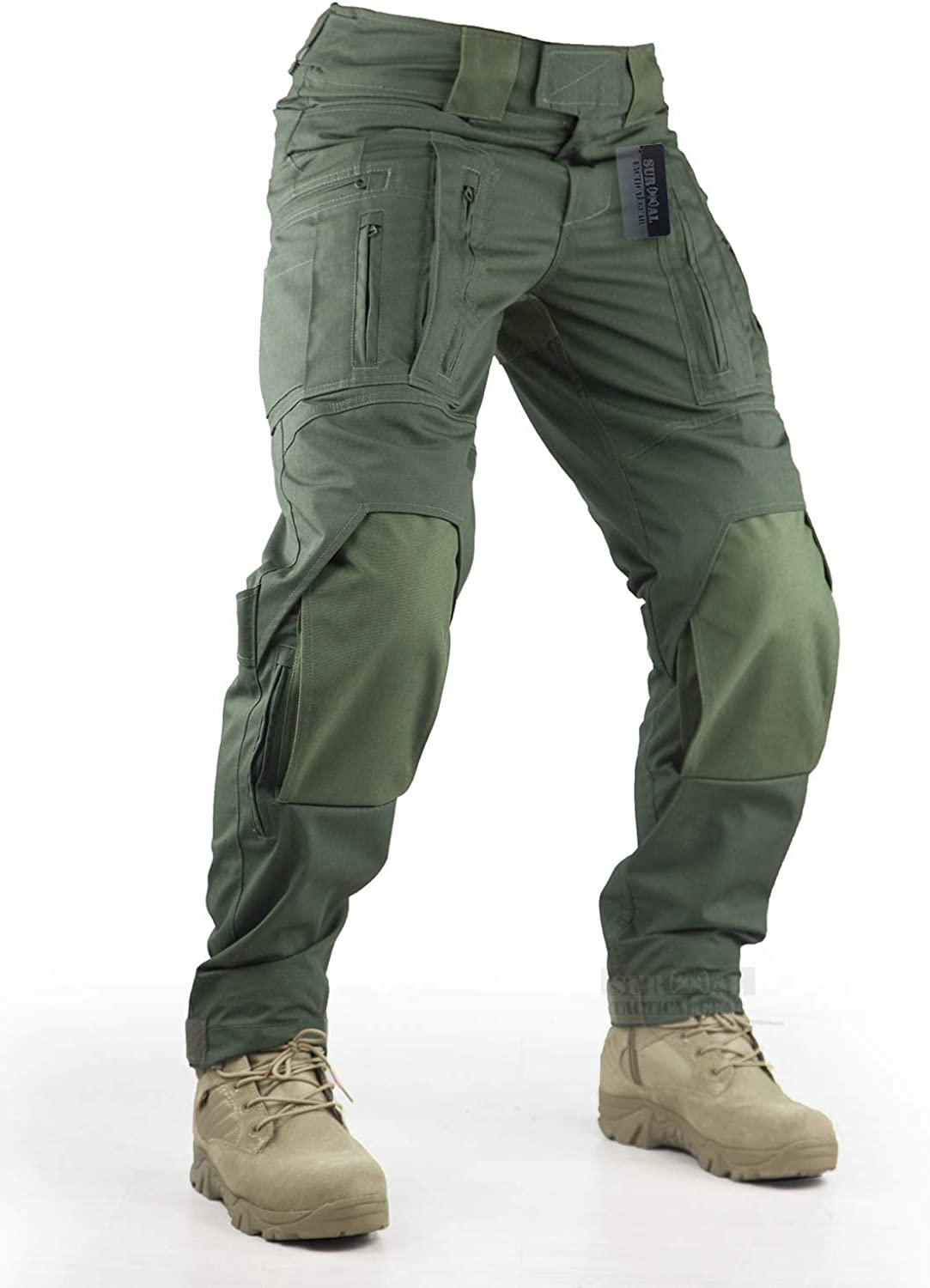 Survival Tactical Gear Pants with Paintball Ai Pads Knee Max 80% Price reduction OFF Hunting