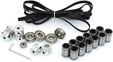 BIQU 3D Printer Reprap Prusa I3 Movement Kit 2 Meter GT2 Timing Belt + 20T Timing Pulley + 608zz Bearing + LM8uu Linear Bearing + 624zz Bearing + Motor Shaft Coupler
