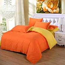 Bedding Solid Color Double-Fight Four-Piece Set Scrub Aloe Vera Cotton Can Be Simple Home Textile Bedroom Quilt