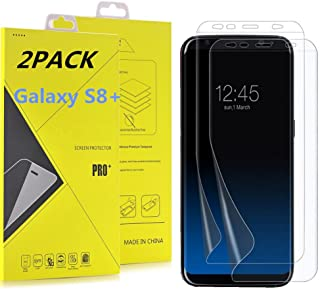 Galaxy S8 Plus Screen Protector [Not Glass], Asstar [ 2 Pack ] [Anti-Bubble] [Easy Installation] [HD Clear] Anti-Scratch Screen Protector Case Friendly for Samsung Galaxy S8+