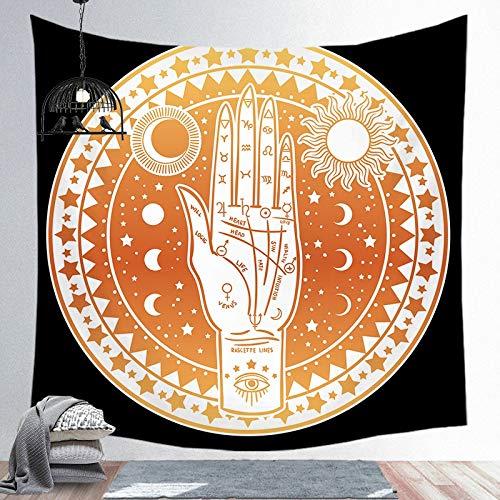 Sun God Art Tapiz Montaje en Pared Mandala Patrón Manta Apolo Estilo Bohemio Fondo Manta de Tela Paño Colgante A12 180x200cm