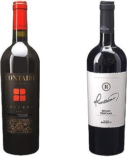 [ 2本 まとめ買い ワイン 飲み比べ ] 2015年 アリアーニコ コンタド リゼルヴァ (ディ マーヨ ノランテ) 750ml と ロッソ トスカーナ (テヌーテ ロセッティ) 750ml ワインセット