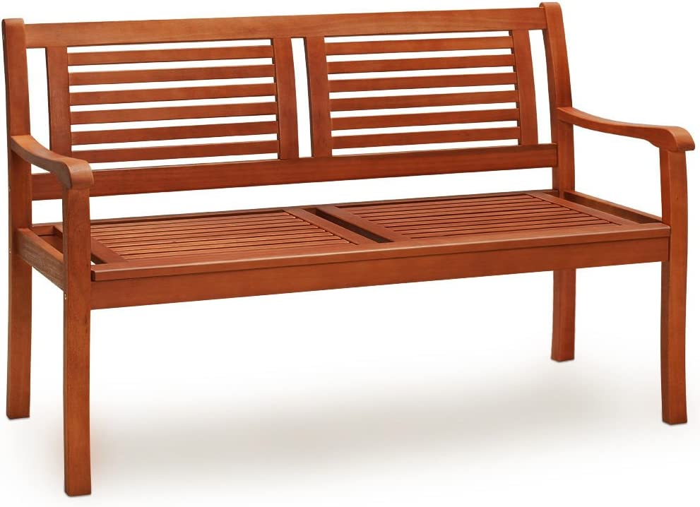 cucunu Tampa Mall 4 Foot Wooden Garden Bench Seater Solid Honey-Brown 5 ☆ very popular in 2