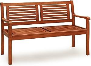 Deuba Panca da giardino Bologna 2 posti Certificato FSC® legno di eucalipto carico max. 320kg panchina da esterno balcone terrazza arredo giardino
