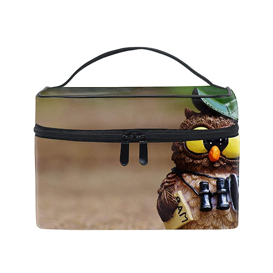 男らしさバナナ銀収納バッグ 化粧ポーチ レディース 多機能 大容量 防水鳥フクロウのおもちゃ帽子地図双眼鏡カメラ