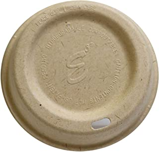E3 Snap Lids - Disposable Bamboo Lids for Coffee & Tea Cups, Fits Size 12,16, 20, 24 Oz Cups, Extra Sturdy, 100% Plant-Based Material, Compostable & Biodegradable, FDA Compliant (Case (500 Count))