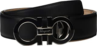 Salvatore Ferragamo Men's Outline Dress Belt - 679750 Black 2 36