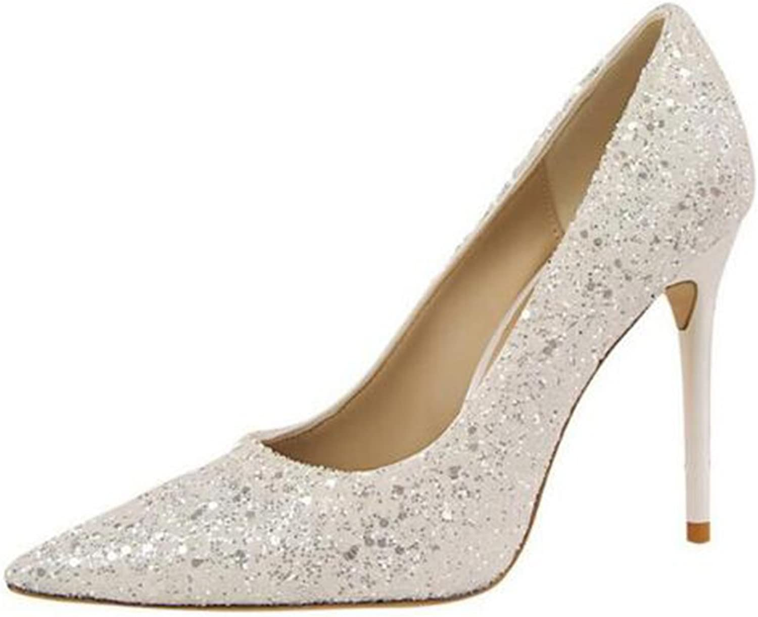 COVOYYAR Women's Pumps Sexy High Heel shoes Shining Fashion Wedding shoes