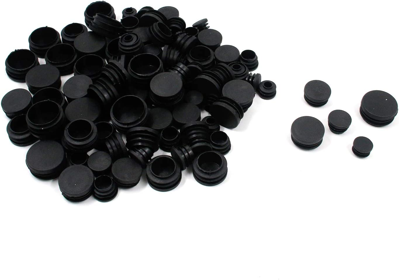 MTMTOOL 100Pcs Mixed Sizes Black P Popular products Furniture New product Round Plugs Plastic