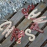 Heaven Sends Shabby Chic - Ghirlanda natalizia di legno in stile country...