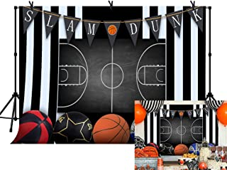 LYLYCTY 7x5ft Basketball Bakcdrop for Slam Dunk Theme Party Spulies Banners Sports Photography Background LYLS929