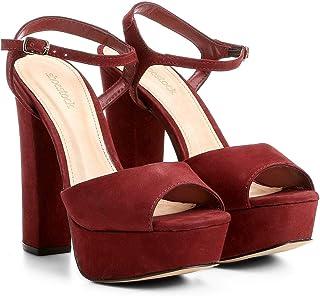 5e6d7e731d Moda - Vermelho - Sandálias   Calçados na Amazon.com.br