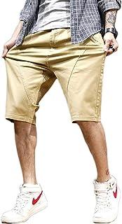 Big Sam メンズ ハーフパンツ 5分丈 短パン 夏 男 人気 ショートパンツ 半ズボン ストレッチ 無地 コットン 通気性 大きいサイズ30inch~48inch