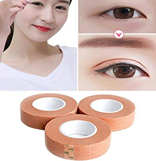 3 Rolls 12.5mm/0.49'' Width Skin Color Breathable Naturally Paper Invisible Slim Single Sided Double Eyelid Tape Self-Adhesive Eyelid Stickers Instant Eye Lift Strips Makeup Beauty Tool