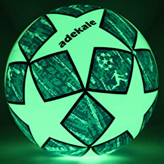 ADEKALE Soccer Ball,Battery-Free Light Up Soccer, Glow in...