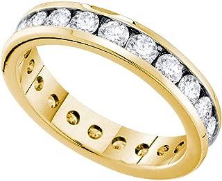 14k Yellow Gold Diamond Eternity Wedding Band OR Fashion Ring (2.0 cttw.)