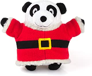 Chiwava Large Stuffed Squeaky Plush Dog Toy Panda with Christmas Detachable Clothes Soft Animal Puppy Toy Interactive Play