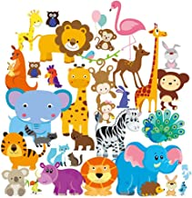 Wall Decals - Safari Adventure Decorative Peel & Stick Wall Art Sticker for Baby's Room, Nursery and Playroom
