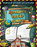 Aprender a escribir números: Gran cuaderno de primeros ejercicios de números -...