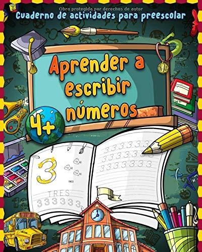 Aprender a escribir números: Gran cuaderno de primeros ejercicios de números - Libro para repasar los numeros y ejercicio en casa - Cuaderno de ... infantil Montessori   Libros infantiles 3