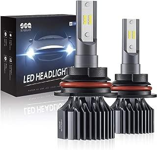 SEALIGHT 9007 HB5 Led Headlight Bulbs Hi/Lo Beam, S1 Series 24xCSP Led Chips Light Coversion Kit - 6000LM 6000K White