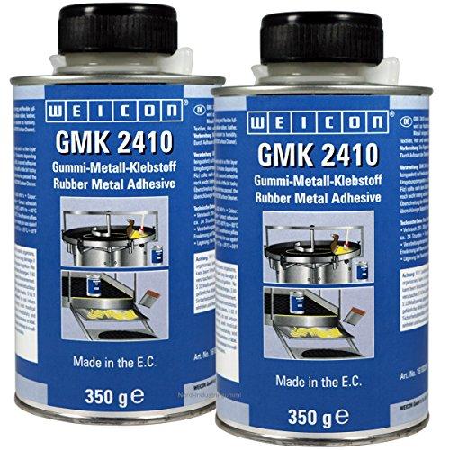 2x WEICON 350g GMK 2410 Klebstoff für Gummimatten, Gummi-Metall-Klebstoff