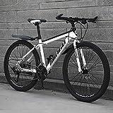 YXWJ Bicicleta de montaña Adultos Ir a viajar de trabajo portátil variable Vehículo hombres y de mujeres de velocidad en carretera del Estudiante Escuela de Tráfico de bicicletas a campo traviesa amor
