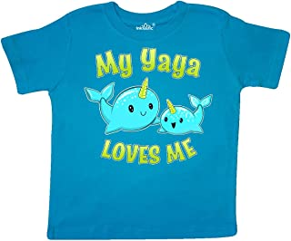 inktastic My Yaya Loves Me- Cute Narwhal Toddler T-Shirt
