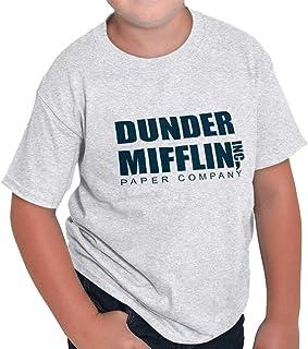 Brisco Brands Dunder Paper Company Mifflin Office TV Show Youth T Shirt