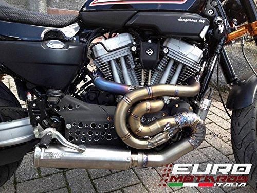 Harley Davidson XR 1200 Zard Impianto Scarico Completo Racing Full Titanio System Exhaust