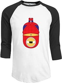 Duola Men's Baseball 3/4 Sleeve Casual Raglan T-shirt Spidermini Comic Image Black