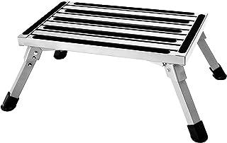 Aluminum Folding Platform Steps RV Step Stool with Anti-Slip Surface & Rubber Feet for Motorhome,Traile, SUV, 440LBS Capacity