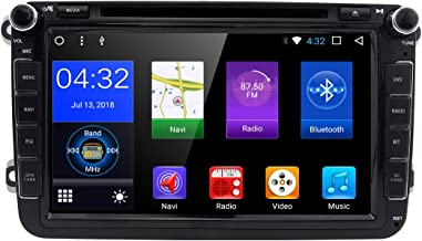 hizpo WiFi Android 7.1 Octa-Core 8 Inch 2GB RAM + 32GB ROM Double Din Car DVD Player for VW Volkswagen Jetta Golf 5 6 Skoda Passat Caddy T5 Seat with Can-Bus,Bluetooth,GPS,RDS,Radio
