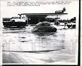 Historic Images - 1958 Vintage Press Photo Santa Ana, Calif flooded streets almost impossible to move