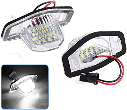 TOOGOO 2 Pi/èCes Voiture Plaque dImmatriculation LED Lumi/èRe Licence Eclairage De Plaque pour Honda CRV