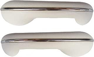 TMI VW BUG ARMRESTS, 58-67 BEETLE & GHIA, COLOR: TMI #20 BRIGHT WHITE, PAIR