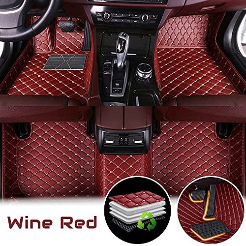 Alfombrillas de coche para T oyota FJ Cruiser 07-16 (No Fire Extinguisher), serie sin fuego, protección para todas las condiciones climáticas, antideslizantes, de piel, juego completo, color rojo vino
