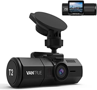Vantrue T2 24/7 Recording Dash Cam, 1920x1080P 2'' LCD 160°Car Camera with Microwave Parking Mode, Supercapacitor, Sony Ni...